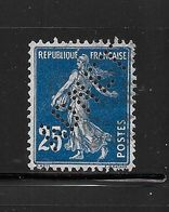 Perfore , Perfin France Semeuse Nr 140 , ADNET , Cap D'Antibes , Ind. 9 - France