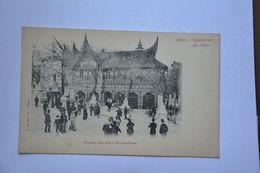 PARIS-exposition De 1900-pavillon Des Indes Neerlandaises-dos Simple - Ausstellungen