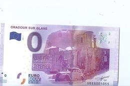 2016 BILLET TOURISTIQUE 0 Euro Oradour Sur Glane  Dpt 87  Port 1.50  Numero Aleatoire - EURO