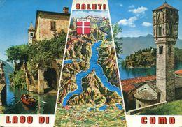 Italia - Saluti Dal Lago Di Como (viaggiata 1969) - Gruss Aus.../ Gruesse Aus...