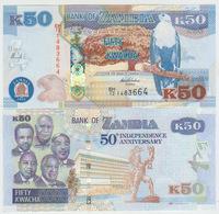 Zambia 50 Kwacha 2014 Pick NEW UNC - Zambia