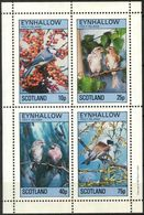 {E265} Birds III Sheet Of 4 MNH** LABEL Cinderella !! - Fantasie Vignetten