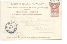 SH 0534. CP PAQUEBOT 2 R / 5 - Princesse Clémentine Obl PAQUEBOTS BELGES/OSTENDE-DOUVRES 19 OCT 05 Vers BRÊME (D).TB - Interi Postali