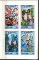 {E266} Birds III Sheet Of 4 Imperf. MNH** LABEL Cinderella !! - Fantasie Vignetten