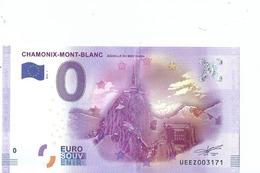 2016 BILLET TOURISTIQUE 0 Euro Chamonix-mont-blanc  Dpt 74  Port 1.50  Numero Aleatoire - EURO
