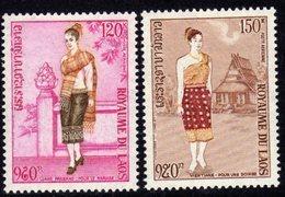 Laos P. A.  N°  101 / 02 XX  Costumes Féminins, Les 2 Valeurs Sans Charnière, TB - Laos