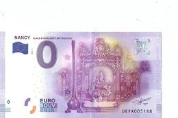 2016 BILLET TOURISTIQUE 0 Euro Nancy  Dpt 54  Port 1.50  Numero Aleatoire - EURO