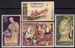 Laos P. A.  N°  27 / 30 XX  Culte Du Bouddha La Série Des 4 Valeurs Sans Charnière, TB - Laos