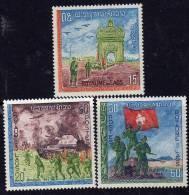 Laos N° 174 / 76 XX Journée De L'Armée, Les 3 Valeurs Sans Charnière, TB - Laos