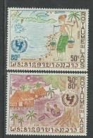 Laos N° 250 / 51  XX  U.N.I.C.E.F. Dessins D'enfants La Paire   Sans Charnière, TB - Laos