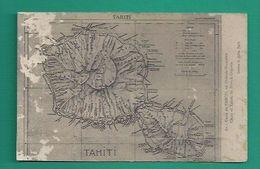 OCEANIE -TAHITI -  CPA - CARTE GÉOGRAPHIQUE - Tahiti