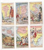Chromo  CHOCOLAT SUCHARD    Lot De 10     Série 257    Les Colonies Françaises     10.5 X 6 Cm - Suchard