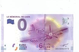2016 BILLET TOURISTIQUE 0 Eur  Le Memorial De Caen   Dpt 14  Port 1.50  Numero Aleatoire - EURO