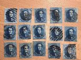 Lot De 15 Timbres Médaillon 20c 11-11A  Tous 4 Marges Et 12/15 Avec Voisins Souvent Marges TB à Maxima TTB - 1858-1862 Medallions (9/12)