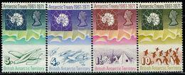 DK1198 British Antarctic 1971 Antarctic Animal Aurora Map 4 All Have A Yellowish Engraved Version MNH - Stamps