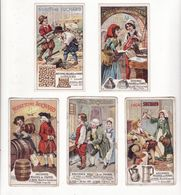 Chromo  CHOCOLAT SUCHARD    Lot De 5     Série 258    Anciennes Mesures De France     10.5 X 6.1 Cm - Suchard