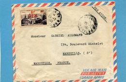 Marcophilie-lettre Commerciale De St Leu Pour Frane Cad  Chargeur N°3--1953   N °362 8frs Cfa Pic Du Midi - Covers & Documents