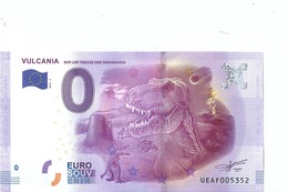 2016 BILLET TOURISTIQUE 0 Euro  Vulcania  Dpt 63  Port 1.50     Numero Aleatoire - EURO