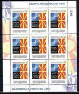 Nord Macedonia 2020 NATO OTAN Mini Sheet (9) MNH - Macédoine