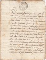 VIEUX PAPIER - GENERALITE PROVENCE AIX - 1749 - VENTE CAILHOL BAILLE BENOIT - CASSIS - Seals Of Generality