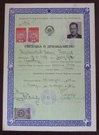 Yugoslavia 1957 Local Revenue Stamp NIS On Document BZ4 - Covers & Documents