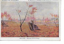 MEURSAULT Côte D'Or Cpa Publicitaire Moutarde Jules Jacquemin BOUILLY Fabricant Matinée Printemps BEAUNE  ...G - Meursault
