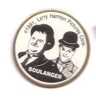 RR237 Pin's Cinema Stan Laurel Et Oliver Hardy Larry Harmon Pictures Corp BOULANGER Achat Immédiat - Cinéma
