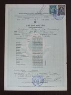 Yugoslavia 1957 Local Revenue Stamp PEC On Document BZ8 - Covers & Documents