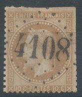 Lot N°55853   N°28A, Oblit GC 4108 Varzy, Nièvre (56), Ind 4 - 1863-1870 Napoleon III With Laurels
