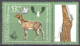 Bulgaria - Hunting - Gun - Fallow Deer - MNH - Timbres