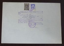 Yugoslavia 1959 Local Revenue Stamp ARANDJELOVAC On Document BZ17 - Covers & Documents