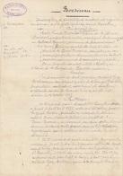VIEUX PAPIER ISERE - INSCRIPTION D'HYPOTHEQUE 1912 - FILIGRANE FORTIN ET CIE - DEVOISE BUISSET - BEAUCROISSANT - Historische Dokumente