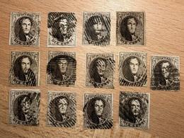 Lot De 13 Timbres Médaillons 10c 10-10A  Tous 4 Marges Souvent TB à Maxima TB Pour études Diverses - 1858-1862 Medallions (9/12)