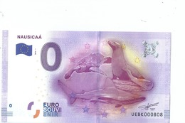2016 BILLET TOURISTIQUE 0 Euro  Nausicaa  Dpt 62 Port 1.50     Numero Aleatoire  Epuise - EURO