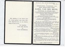 15-KAREL VAN DEN BRUEL-STELEN-GEEL-NEER-WAVER-SCHAARBEEK-WOLUWE-LEERBEEK-WOLVERTHEM-ANNECY-PRIESTER*PASTOOR - Andachtsbilder