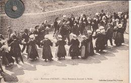 56 - Carte Postale Ancienne En Bretagne   Environs D'Auray   Noce Bretonne Dansant La Ridée - Dances
