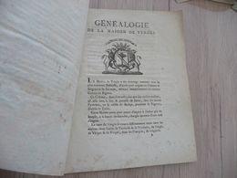 Généalogie De La Maison De Vergès 8 Pages Dom Caffiaux Belle Vignette Du Blason Bigorre - Historische Dokumente
