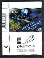 Slovenia 2020 Sport FIS World Champion Planica Stamp+label MNH - Slovenia