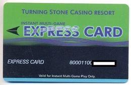 Turning Stone Casino. Verona, NY, U.S.A., Older Used Slot Card, # Turning-11 - Casino Cards