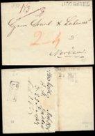 S8086 - Oldenburg Vorphila Brief: Gebraucht Hooksiel - Jever - Norden 1838, Bedarfserhaltung. - Oldenburg