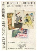 ROGNONAS - Rétro-Photo- Catalogue De La 20° Vente Sur Offres De Cartes Postales Anciennes - 2001 - Illustrateurs - Andere Gemeenten