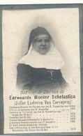DOODSPRENTje  NON NONNE  ZUSTER  SCHOLASTICA  VAN CAENEGEM  Zottegem 1855 Deinze Overmere  1913 - Religion & Esotericism