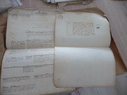 L'Archier étude Généalogique Manuscrite Cabinet D'Hozier 5 Pages - Historische Dokumente