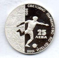 BULGARIA, 25 Leva, Silver, Year 1986, KM #194 - Bulgaria