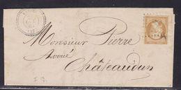 France, Eure Et Loire - Yvert N° 21, GC Avec Càd 22 Sur LAC De Varize Du 27/10/1865 - Indice 12 - 1849-1876: Période Classique