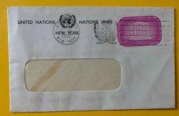 10153 - Enveloppe Flamme 10e Anniversaire 1945-1955 New-York 27.09.1955 - New-York - Siège De L'ONU