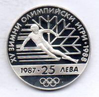 BULGARIA, 25 Leva, Silver, Year 1987, KM #160 - Bulgaria