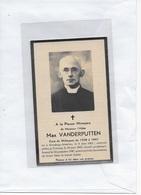 15-MAX VANDERPUTTEN-WILLAUPUIS-HOUDENG-ALMERIES-TOURNAI-DOORNIK--PRIESTER*PASTOOR - Andachtsbilder