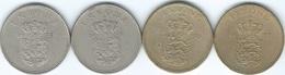 Denmark - Frederik IX - 1 Krone - 1952 (KM837.1) 1957 (KM837.2) 1971 (KM851.1) & 1972 (KM851.2) - Denmark