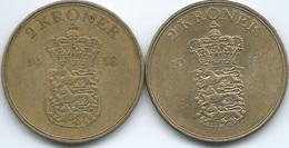 Denmark - Frederik IX - 2 Kroner - 1953 (KM838.1) & 1957 (KM838.2) - Denmark